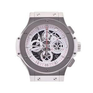 Hublot Aeroban All White Japan Limited 311.SE.2113.VR.JDR14 Men's SS / Ceramic Automatic Watch HUBLOT Box Galleries Belt Used Ginza