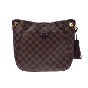35a2671ae8aa8d Louis Vuitton Damier South Bank Brown N42230 Women's Shoulder Bag A rank 美  品 LOUIS VUITTON