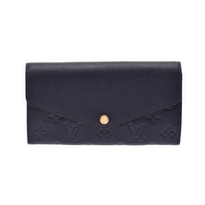 Louis Vuitton Unplant Porto Foyu Sala Marine Rouge M62125 Women's Wallet A rank beautiful goods LOUIS VUITTON secondhand book silver storage