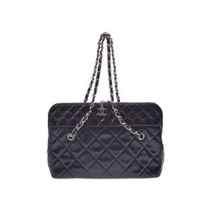 Chanel Matrasse Chain Shoulder Bag Black Ladies Vinyl B Rank CHANEL Used Ginza