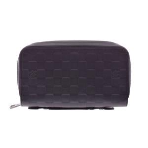 Louis Vuitton Damier Anfini Zippy XL Onyx N61254 Men's Leather Purse A Rank Mint LOUIS VUITTON Used Ginza