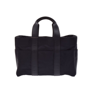 Hermes Acapulco MM black ladies nylon tote bag new same beautiful goods HERMES secondhand silver storage