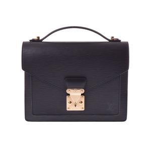 ルイ・ヴィトン(Louis Vuitton) ルイヴィトン エピ モンソー 黒 M52122 メンズ レディース 本革 ショルダーバッグ ABランク LOUIS VUITTON ストラップ 中古 銀蔵