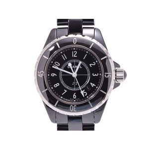 Chanel J12 33mm H0682 black letter board ladies ceramic quartz wristwatch A rank beautiful goods CHANEL galler secondhand silver stock