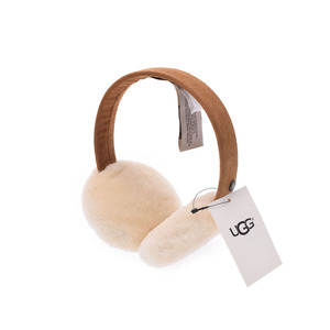 Ag W Classic earmuffs chess nuts women's sheepskin ears hunting outlets unused beautiful goods UGG box second hand silver storage