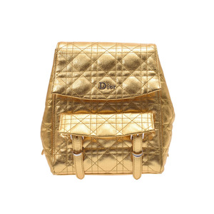 Dior Kanage backpack Gold ladies A rank 美 品 CHRISTIAN DIOR Used silver store