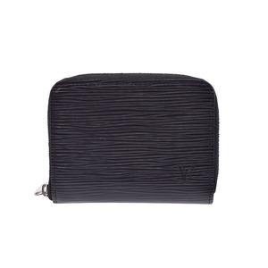 Louis Vuitton Epi Zippy coin purse black M60152 Men's Women's A rank 美 品 LOUIS VUITTON second hand silver storage