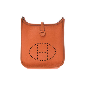 Hermes Evelyn TPM Orange G Hardware □ Engraved Ladies Triong Shoulder Bag HERMES Used Ginza