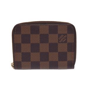 Louis Vuitton Damier Zippy Coin Perth Brown N 63070 Men's Women's purse B Rank LOUIS VUITTON Used Ginza