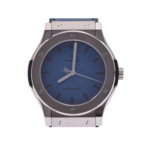 Hublot Classic Fusion Berlutti Ocean Blue Men's TI Venetian Leather 500 Limited Automatic Watch HUBLOT Used Ginza
