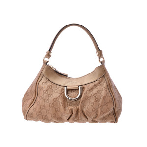 Gucci semi semi-shoulder bag gold ladies leather AB rank GUCCI second hand silver storage
