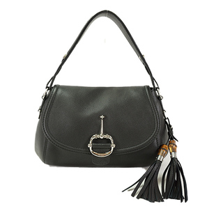 Auth Gucci One Shoulder Bag 240266 Leather Black Women's