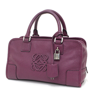Loewe LOEWE Amassona 28 handbag leather purple 352.95.A03