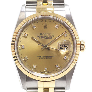 [ROLEX] ROLEX Men's Watch Datejust 16233 G Champagne Dial 10P Diamond-finished