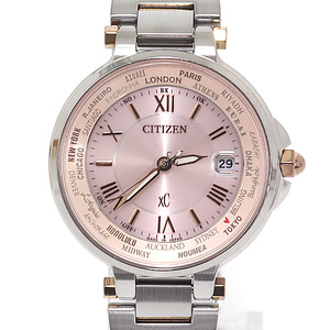 Citizen Cross Seat EC 1014 - 65 W Ladies' Watch Eco Drive Solar radio pink dial plate combination