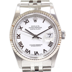 ROLEX Rolex Mens watches Datejust 16234 Y (made in 2002) White Roman OH