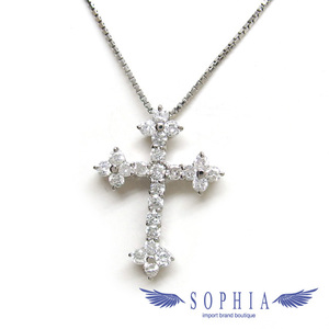 Diamond Cross Necklace Platinum 20181116