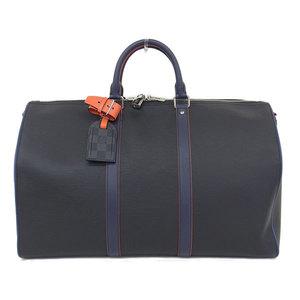 Authentic LOUIS VUITTON Louis Vuitton Epi Grafit KEYPOL 50 Boston Bag 2 WAY Navy Order Number: M51462 Leather