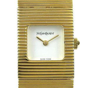 Real YVES SAINT-LAURENT Yves Saint Laurent Ladies Quartz Watch White dial