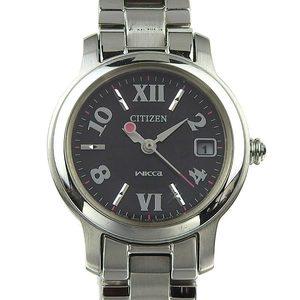 Genuine CITIZEN citizen wicca ladies quartz wrist watch black character pattern number: E011 - S058457HST