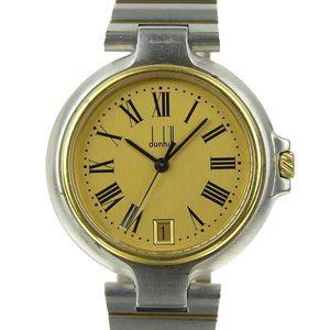 Genuine DUNHILL Dunhill Millennium Men's Quartz Wrist Watch Gold Dial