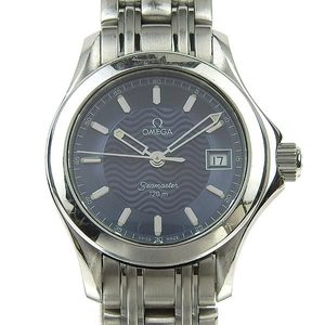 Genuine OMEGA Omega Seamaster 120m SS Ladies Quartz Wrist Watch Model Number: 2581.81