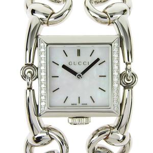 Genuine GUCCI Gucci Signoria Bezel Diamond Ladies Quartz Wrist Watch Shell Dial Pattern Model Number: 116.3
