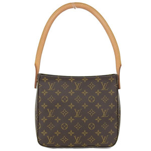 3e10fe05abfc Real LOUIS VUITTON Louis Vuitton Monogram Looping Shoulder Bag Model   M51146 Leather
