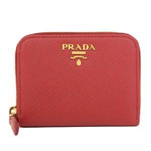 Authentic PRADA Prada Saferian Coin Case Red Model: 1MM268