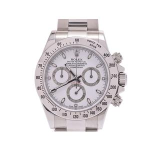 ロレックス デイトナ 白文字盤 116520 メンズ SS 鏡面バックル 自動巻 腕時計 Aランク 美品 ROLEX 中古 銀蔵