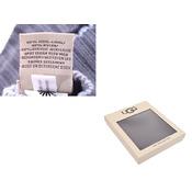アグ ハット/ミトン ギフトセット グレー 4-6歳 キッズ ニット 帽子 手袋 未使用 美品 UGG 箱 中古 銀蔵