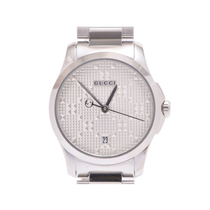 Gucci G Timeless Silver Dial 126.5 Ladies' SS Quartz Wrist Watches New Item Beauty GUCCI Box Gala Ginza