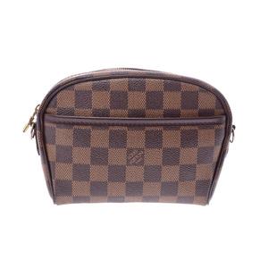 4f3d8bd7be78 Louis Vuitton Damier Pochette Ipanema Brown N 51296 Men s Women s Genuine  Leather Shoulder Bag B Rank