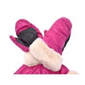 アグ ハット/ミトン ギフトセット ピンク 4-6歳 キッズ ナイロン シープスキン 帽子 手袋 未使用 美品 UGG 箱 中古 銀蔵