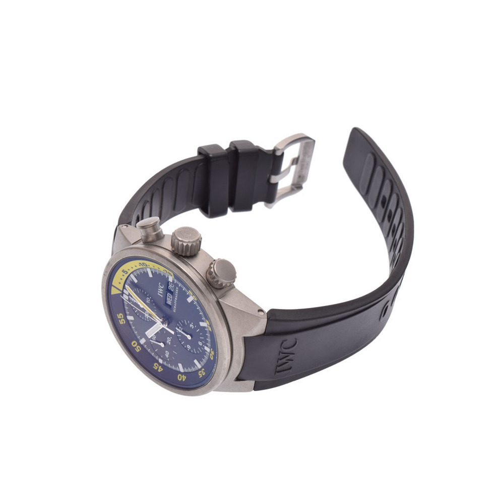 IWC アクアタイマー クロノグラフ 黒文字盤 IW371918 メンズ TI ラバー 自動巻 腕時計 Aランク 美品 中古 銀蔵