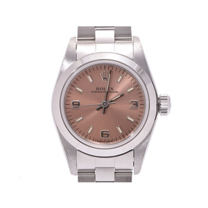 Rolex Perpetual pink dial plate 67180 U Woman SS automatic winding wrist watch A rank 美 品 ROLEX box gallery pre-owned silver store