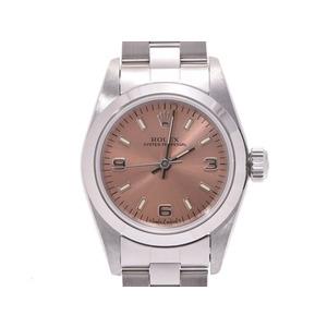 ロレックス パーペチュアル ピンク文字盤 67180 U番 レディース SS 自動巻 腕時計 Aランク 美品 ROLEX 箱 ギャラ 中古 銀蔵