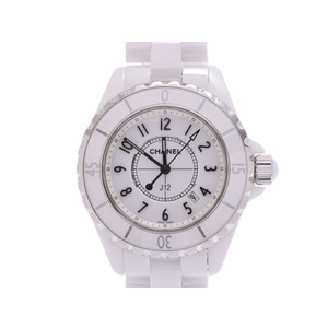Chanel J12 33mm white dial face men's ladies ceramic quartz wristwatch A rank beautiful goods CHANEL box gallery secondhand bookstore