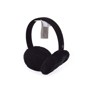 Ag W Classic earmuff black ladies sheepskin ears hose outlet unused beautiful goods UGG box second hand silver storage