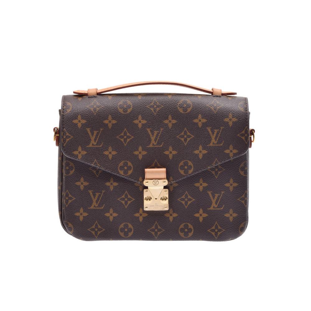 fc2c15bb3d68 Louis Vuitton Monogram Pochette Metis Brown M40780 Ladies Men s 2 Way Bag A  rank beautiful goods ...