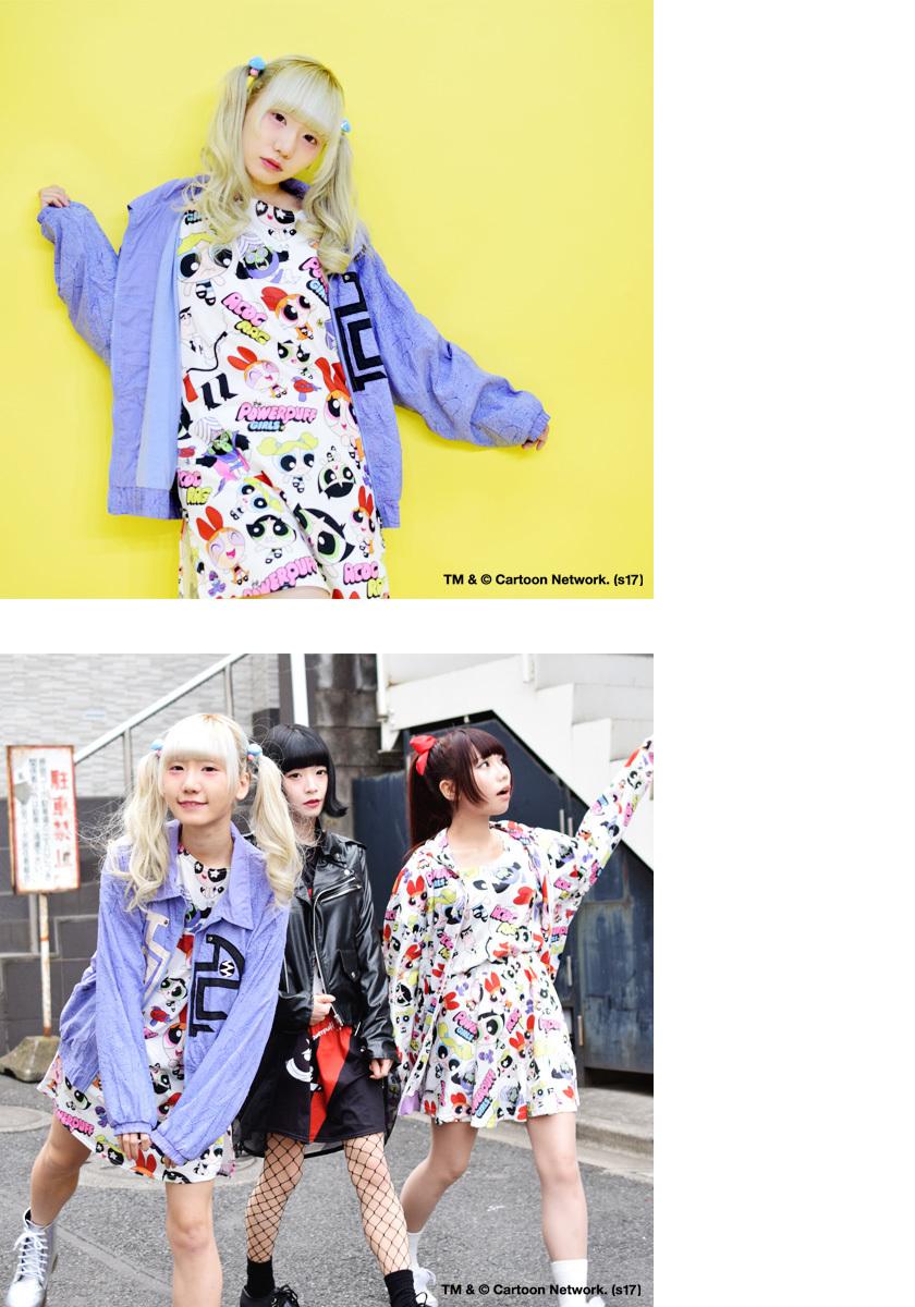 KAWAII Harajuku Fashion Women/'s One Pie T-Shirt Powerpuff Girls dm-po-01