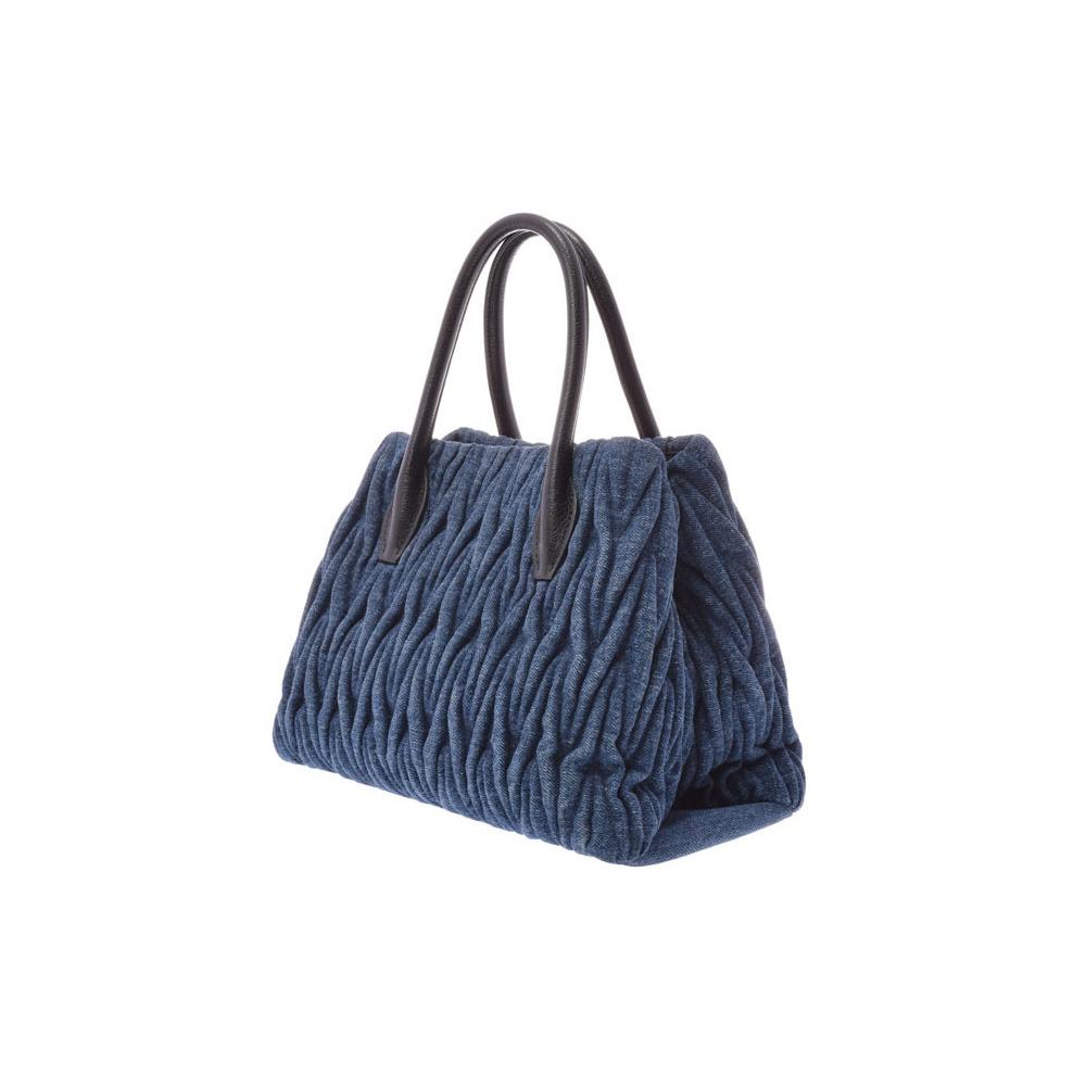 960a30e006b2 Miu Miu Miu Materasse 2 WAY Handbag Blue 5 BG 069 Women s denim AB ...