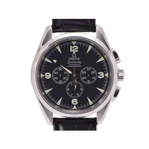 オメガ シーマスター アクアテラ レイルマスター 黒文字盤 2812.52.37 メンズ SS/革 自動巻 腕時計 ABランク OMEGA ギャラ 中古 銀蔵