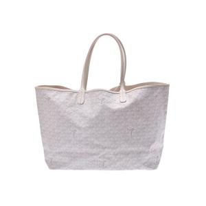Goyard Saint Louis PM white men's lady's PVC tote bag B rank GOYARD pouch included