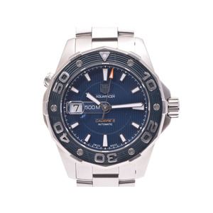 TAG Heuer Aqua Racer WAJ2112 Blue Dial Men's SS Automatic Volume Watch A Rank 美 品 Used Ginza