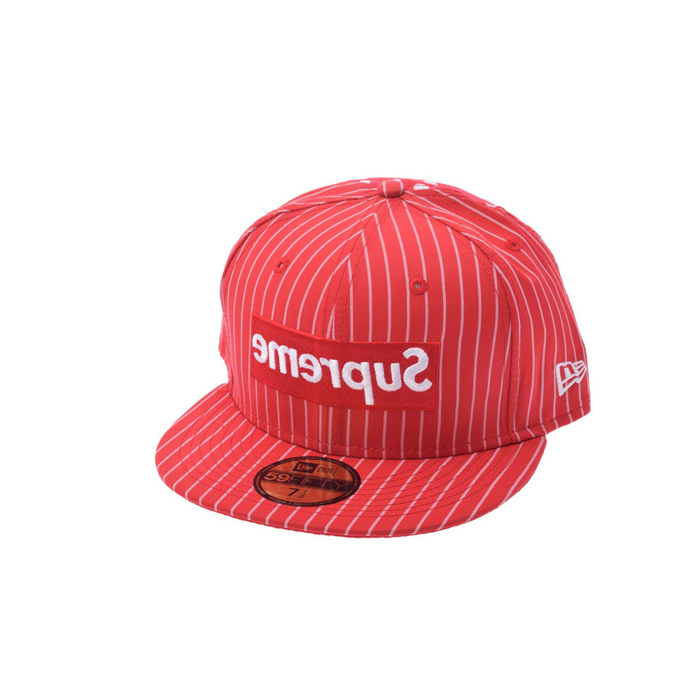 Supreme garcon collaboration new error cap size red men cotton hat unused  beauty item comme des a62d011ff484