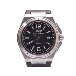 IWC INDUSTRIAL black letter board backscale IW 323601 Men's SS / rubber automatic winding watch A rank beautiful goods second hand silver storage