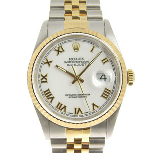 Real ROLEX Rolex Datejust Men's Automatic Watches Model Number: 16233 S Series