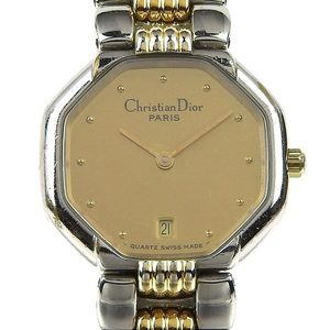 Genuine Christian Dior Octagon Ladies Quartz Wrist Watch 48 203