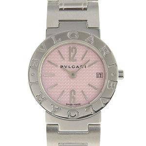 Genuine BVLGARI Bvlgari Ladies quartz watch Pink dial Model number: BB23SS
